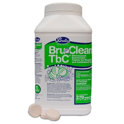 Bru-Clean TbC Tablets - 270 tablets/tub - 2 tubs/case BruTab6s,Bru-Clean Tbc tablets,kennel disinfectant,NADCC,sodium dichloro isocyanurate