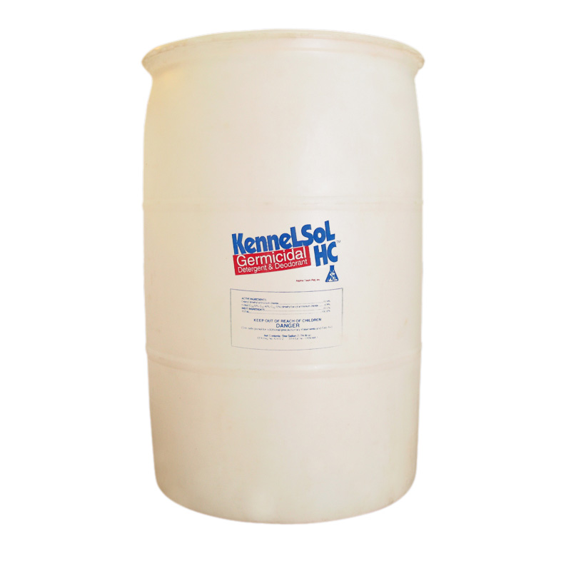 KennelSol HC 55 Gallon Drum KennelSol HC,kennel disinfectant,parvo disinfectant,parvo virus,giardia disinfectant,animal care disinfectant,kennel germicide,disinfectant cleaner,veterinary disinfectant,veterinary cleaner,zoo disinfectant