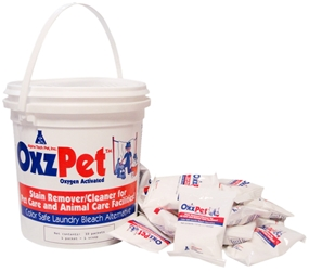 OxzPet 33 packets/pail 2 case OxzPet,Oxypet,color safe bleach alternative,animal care facility laundry,veterinary laundry,pet laundry product