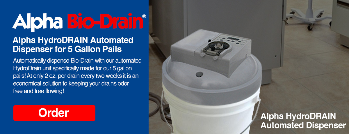 Alpha Bio-Drain automated dispenser