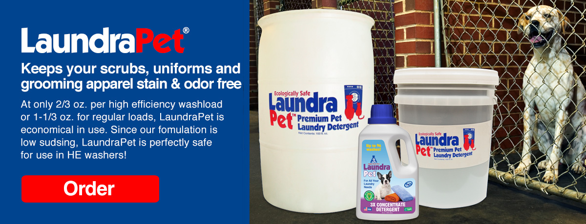 LaundraPet effectively remove animal odors