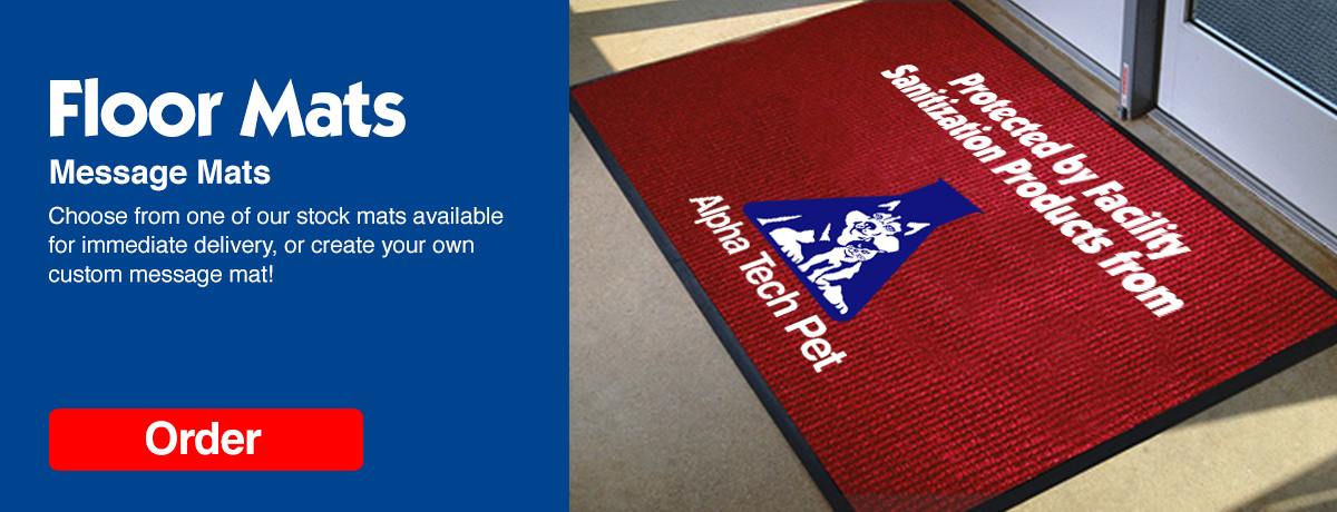 Custom Logo Message Mats