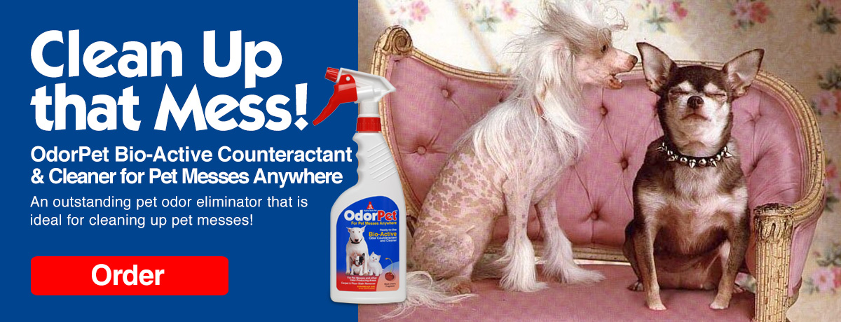 OdorPet - An odor counteractant and cleaner for pet messes anywhere