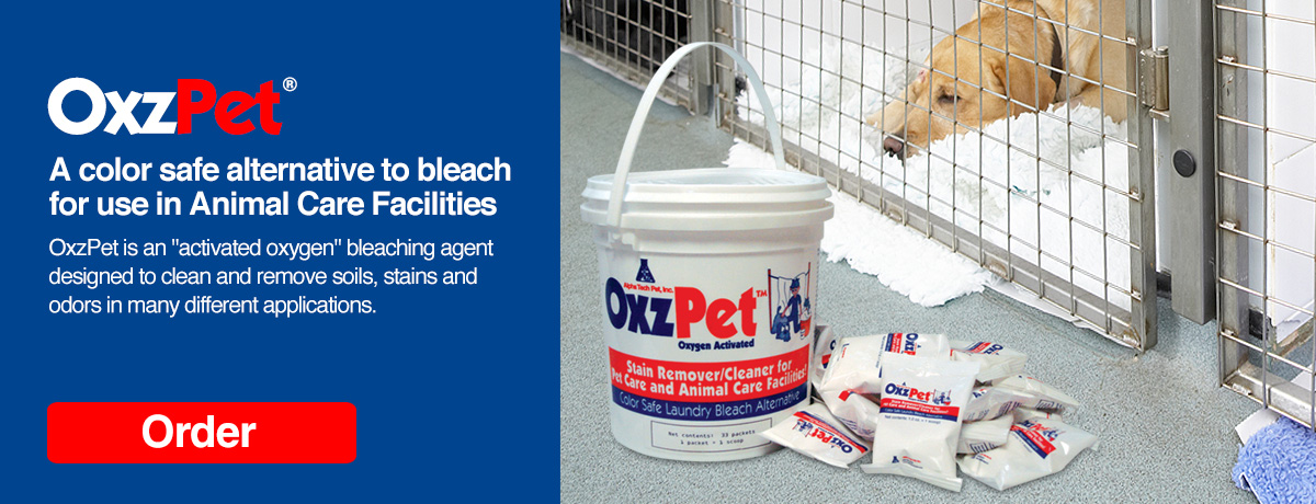 OxzPet is a color safe alternative to bleach