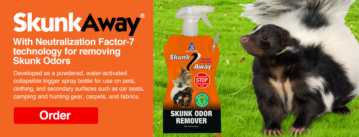 SkunkAway with Neutralization Factor-7 technology for removing Skunk Odors