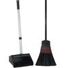"12"" Wide Mouth, Lobby Dust Pan, 30"" handle, with Broom lobby dust pan, kennel dust pan"