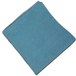 16 x 16 MicroFiber Knitted General Purpose Cloth, 12/case - Blue microfiber cleaning cloths, Kennel Microfiber Cloths, Veterinary Microfiber Cloths