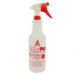 32 oz. Spray Bottle with OdorPet Label - 6/case OdorPet empty labeled spray bottles