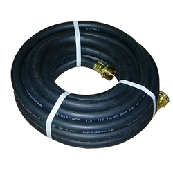 "Alpha HydroClean High Pressure Rubber Hose - Black 25' x 1/2"" HydroClean,High Pressure Rubber Hose - Black 25' x 1/2"""