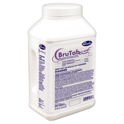 BruTab 6S Tablets - 256 tablets/tub - 2 tubs/case BruTab6s,Bru-Clean Tbc tablets,kennel disinfectant,NADCC,sodium dichloro isocyanurate
