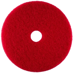 Disk Pads, Red Buffing (general cleaning), case of 5 Disk Pads,Red Buffing Pads