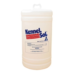 KennelSol 15 Gallon Drum KennelSol,kennel disinfectant,parvo disinfectant,parvo virus,giardia disinfectant,animal care disinfectant,kennel germicide,disinfectant cleaner,veterinary disinfectant,veterinary cleaner,zoo disinfectant