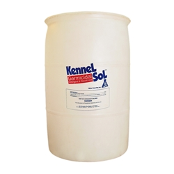 KennelSol 55 Gallon Drum KennelSol,kennel disinfectant,parvo disinfectant,parvo virus,giardia disinfectant,animal care disinfectant,kennel germicide,disinfectant cleaner,veterinary disinfectant,veterinary cleaner,zoo disinfectant