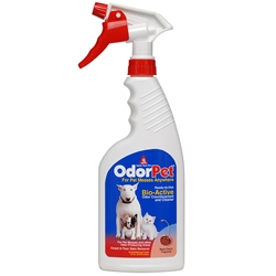 OdorPet 16oz (Black Cherry) Ready-to-Use Spray Bottle - 6/Case with Sprayer OdorPet,Odor Pet, Pet odor eliminator,pet mess clean-up,pet odor control,kennel odor control,kennel cleaner