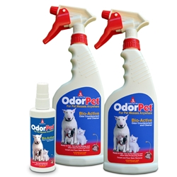 OdorPet Consumer Pack - 16 ounce ready-to-use (2 bottles) + 4 ounce ready-to-use (1 bottle) OdorPet,Odor Pet, Pet odor eliminator,pet mess clean-up,pet odor control,kennel odor control,kennel cleaner