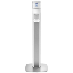 PURELL® MESSENGER™ ES8 Silver Panel Floor Stand with Dispenser (each) Purell,EX8,Floor Stand Dispenser