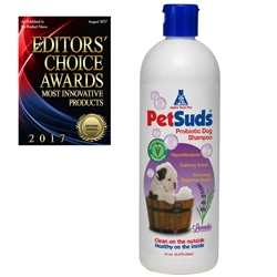 PetSuds Probiotic Pet Shampoo - 16 ounce, 6/case Probiotic Pet Shampoo,PetSuds Pet Shampoo,Premium Pet Shampoo,Probiotic Dog Shampoo,Probiotic for Dogs